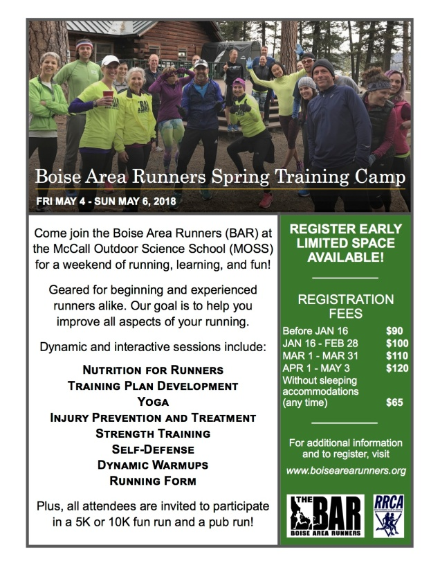 Bar spring training camp registration boise area runners bar clinic flyer 2018 final publicscrutiny Image collections